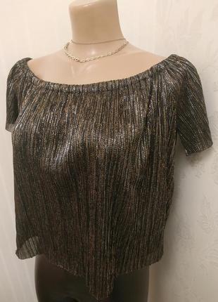 Блуза с открытыми плечами zara