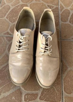 Туфли  кожаные лакированные броги оксфорды