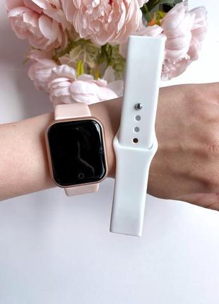 Комплект! смарт часы + дополнительный ремешок smart watch qs26 pro