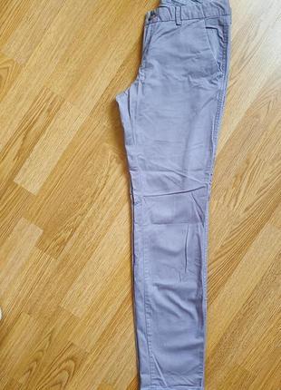 Джинсовые брюки h&m l.o.g.g. лиловые сиреневые 34 42 xs