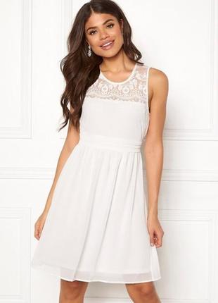Платье лето с кружевом повседневное нарядное коктейльное шифоновое