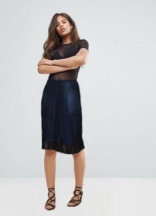 Двойная юбка сетка с подкладкой uk 14