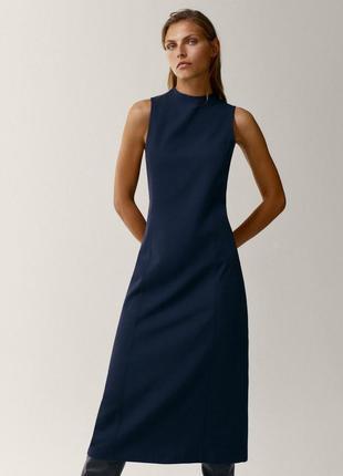 Шикарное платье текущая коллекция 2021 massimo dutti