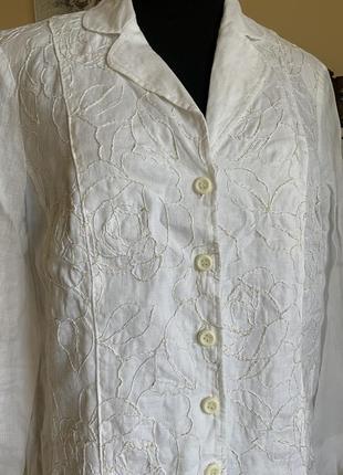 Легкий летний льняной пиджак- блузон