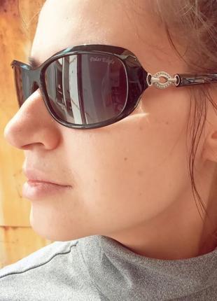 Стильные серые очки с поляризацией женские классические