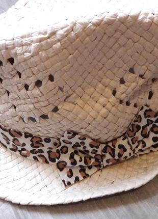 Шляпа шляпка леопардовый бантик