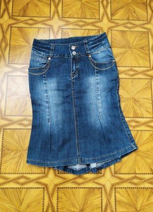 Классная модная джинсовая юбка