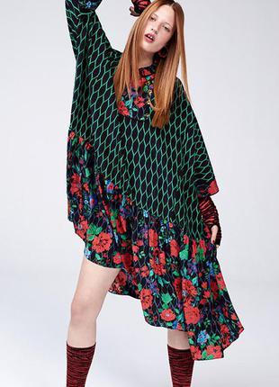 Шелковое платье kenzo by h&m / 36