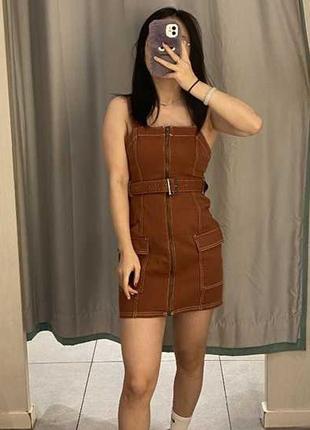 Джинсовое платье комбинезон h&m