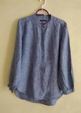 Натуральная лляная рубашка от marks & spencer
