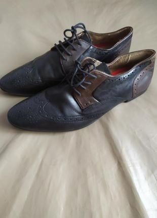 Натуральная кожа.туфли-броги