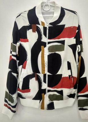 Zara бомбер ветровка куртка на подкладке