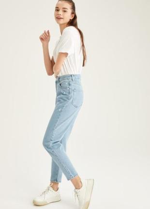Женские базовые джинсы мом