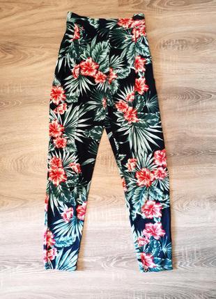 Летние штаны брюки вискоза яркий принт