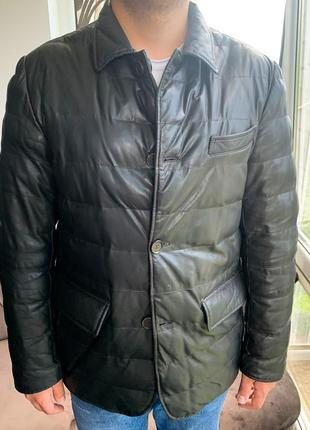 Шкірянка bally  ad unum reversible leather jacket hugo boss1 фото