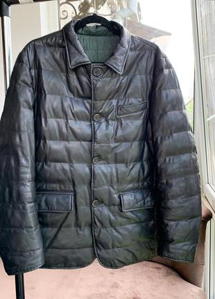 Шкірянка bally  ad unum reversible leather jacket hugo boss2 фото