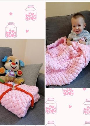 Плюшевый плед из ализе alize puffy, конверт, одеяло для новорожденного