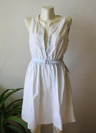 Джинсовое платье светлое сарафан