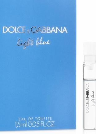 Dolce & gabbana light blue пробник 1,5 мл