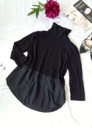 Гольф водолазка свитшот свитер шерсть шелк вип бренд черный