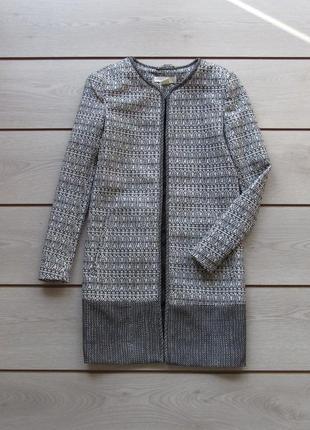 Удлиненный жакет пиджак в орнамент от h&m