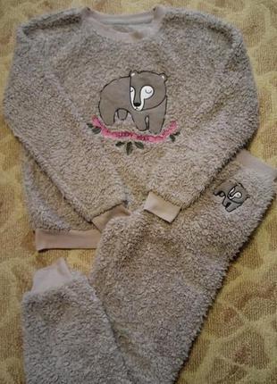 Пижама лёгкая,тёплая,уютная размер 8-10 love to lounge