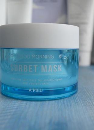 Утренняя маска для лицаa'pieu good morning sorbet mask