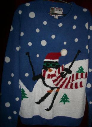 Прикольный свитер на зимнюю тематику