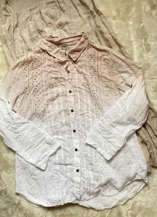 Легкая красивая блуза рубашка прошва 🇮🇹 италия