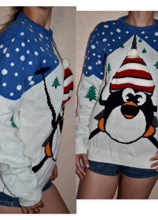 Крутецкий свитер с пингвином от бренда cedarwood state