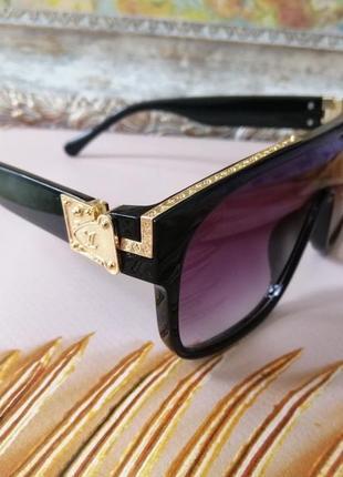 Эксклюзивные чёрные брендовые чёрные солнцезащитные очки маска унисекс