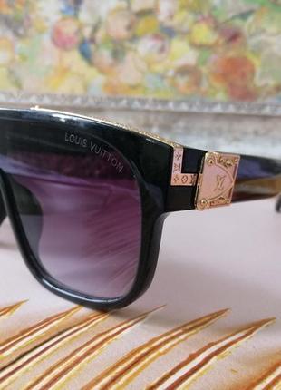 Эксклюзивные чёрные брендовые чёрные солнцезащитные очки маска унисекс2 фото
