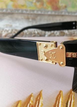 Эксклюзивные чёрные брендовые чёрные солнцезащитные очки маска унисекс7 фото