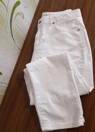 Качественные базовые белые джинсы , турция