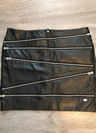 Кожанная юбка tom tailor