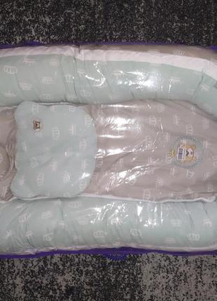 Кокон позиционер для младенца ideia с ортопедической подушкой
