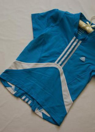 Футболка голубая adidas оригинал