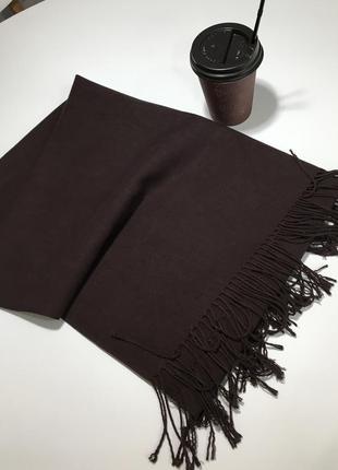 Уютный кашемировый шарф палантин
