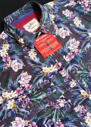 Шикарная брендовая качественная рубашка joe browns этикетка коттон индия