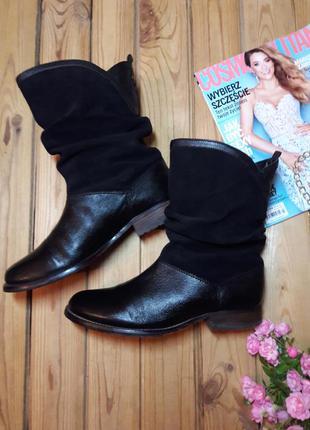 (р.40/26 см) шикарные кожаные сапоги / ботинки lotus