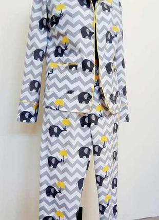 Пижама женская теплая фланель