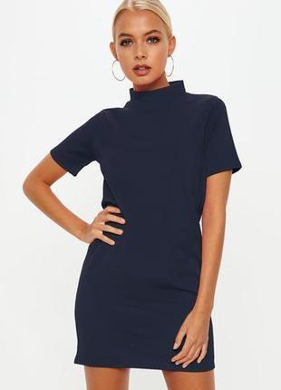 Missguided серое графит платье футболка прямое новое короткое