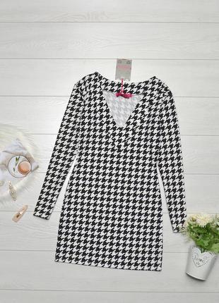 Красиве чорно-біле плаття boohoo.