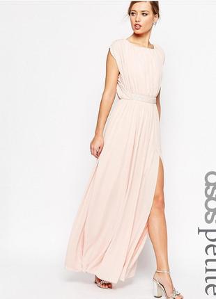 Нежное платье asos с открытой спинкой