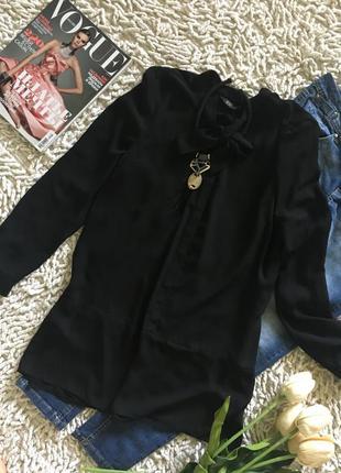 Удлиненная шикарная блуза-туника на завязку