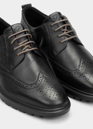 Мужские, кожаные туфли-оксфорды ecco st.1 hybrid