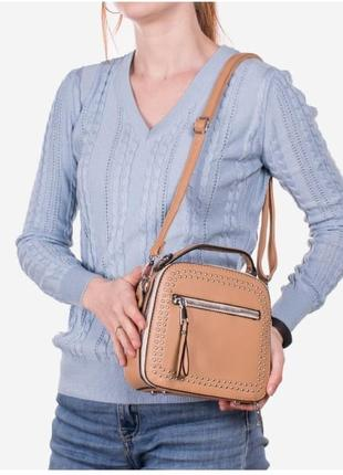 Коричневая женская сумочка / новинка/ мода2 фото