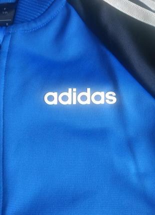 Кофта бомбер на замке adidas 3-4года 98-104р оригинал2 фото