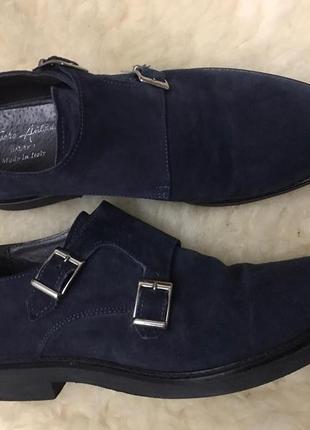 Великолепные мужские замшевые туфли монки от итальянского бренда fusaro antonio
