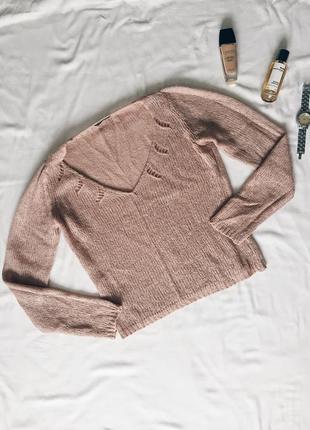Очень нежный , красивый свитер sisley , бежевого  цвета , размер м